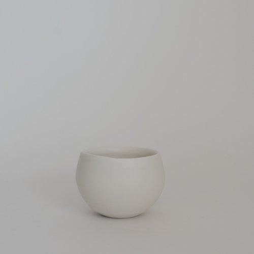 馬場勝文 / 白磁マット丸カップ(小)