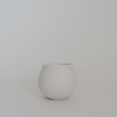 馬場勝文 / 白磁マット フリーカップ(小)