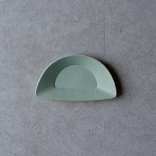 3RD CERAMICS / おつまみ皿(緑・H)