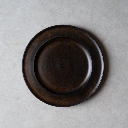 中西健太 / リム皿 24cm 黒拭漆