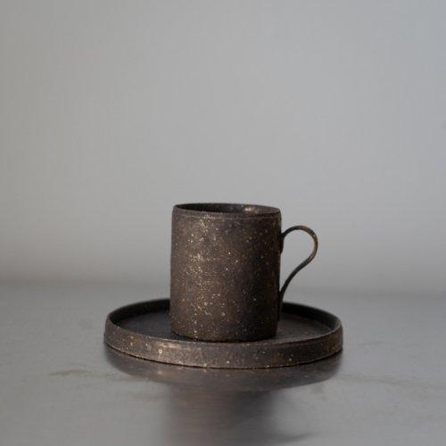 遠藤岳 / Demitasse cup&saucer Black