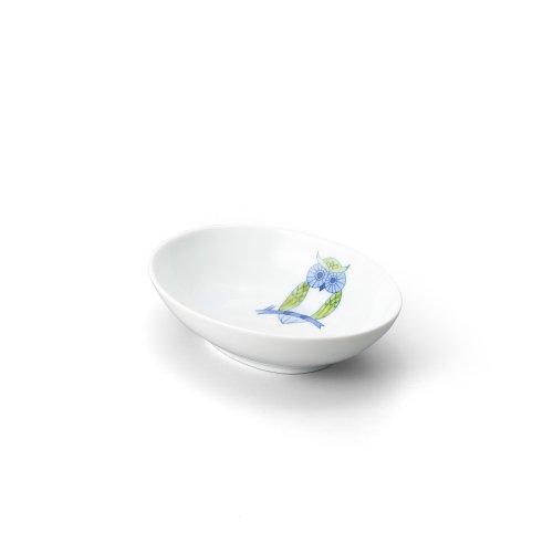 ふくろう 楕円小鉢