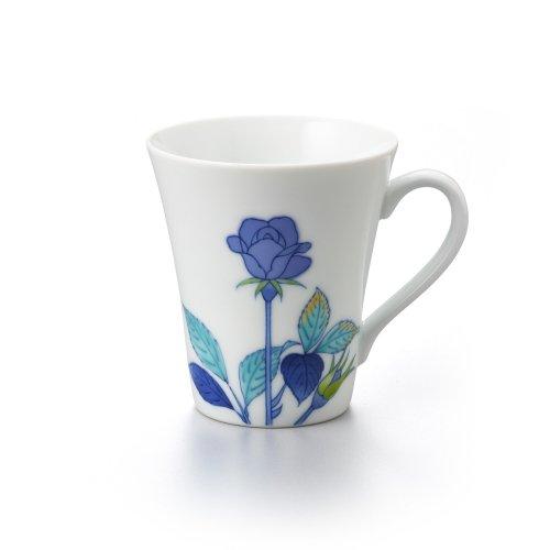 バラ 長マグカップ 青