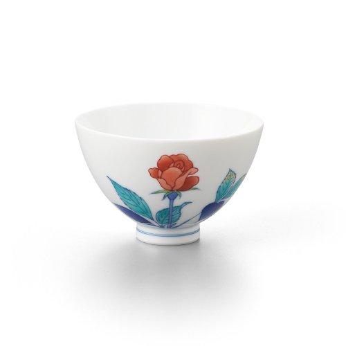バラ 丸茶碗 赤