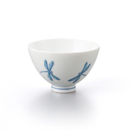 トンボ 丸茶碗 青