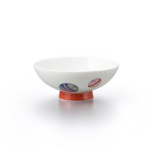 手まり 平茶碗(小)赤