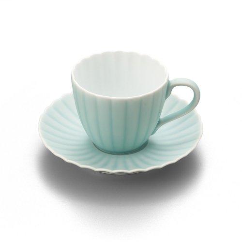 モイスト 菊割珈琲碗皿