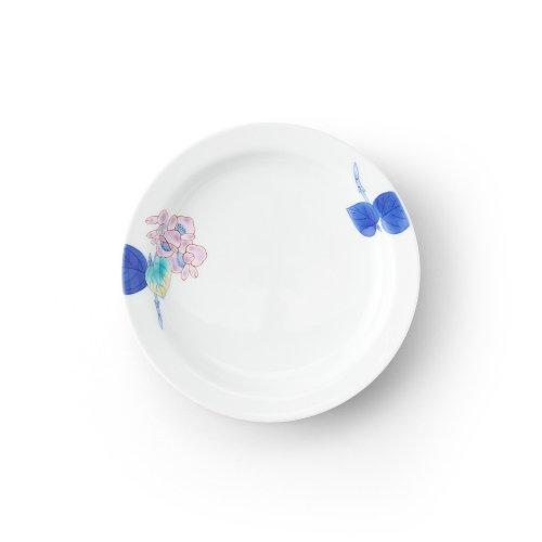 五草花 ベゴニア リム付6寸皿
