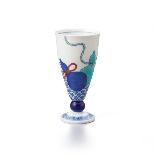 鍋島 青海波三瓢文 リキュールグラス
