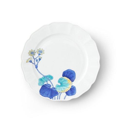 五草花 ツワブキ 木瓜7寸皿