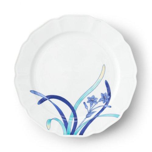 五草花 水仙 木瓜9寸皿