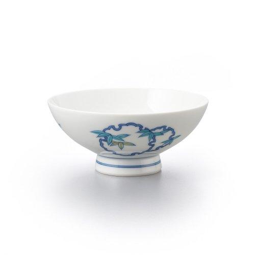 雪輪笹文 平茶碗(大)