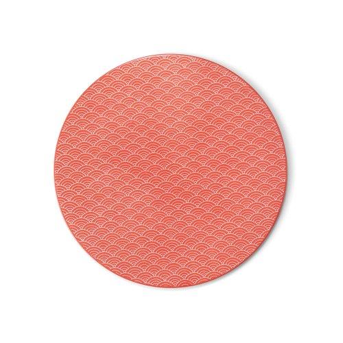 【新作】 青海波墨弾文 赤 φ24.5� Flat Plate