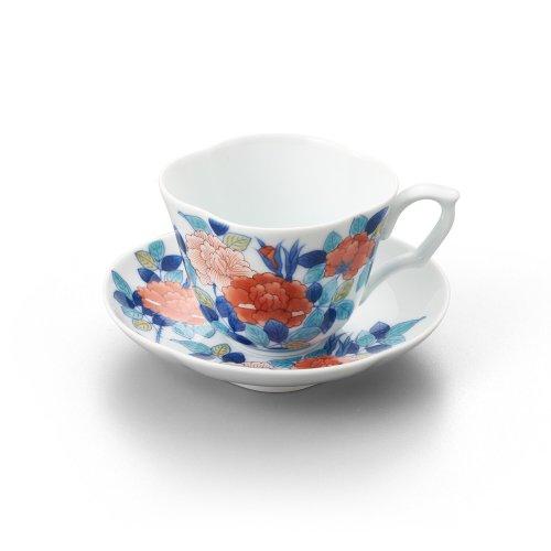 鍋島 野薔薇文 木甲珈琲碗皿
