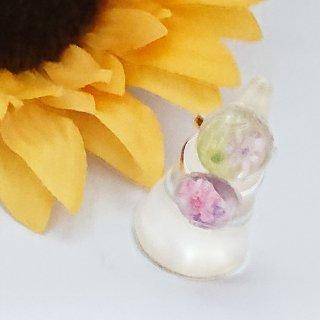 お花のフリーサイズリング シルバー