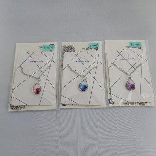 【Kleine-Levin】しずく型のバラのネックレス