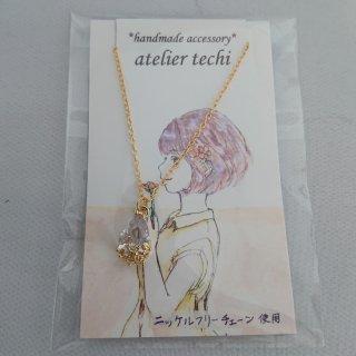 【atelier techi】花しずくのネックレス