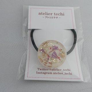 【atelier techi】ヘアゴム(丸型・お花)