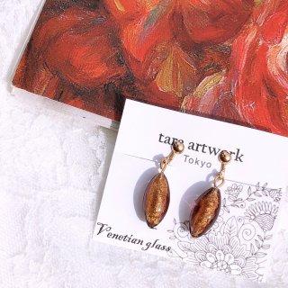 【tara artwork】ベネチアングラスのイヤリング