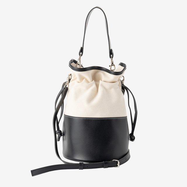 bi-color bag【black】