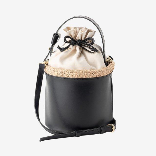 round basket bag【black】