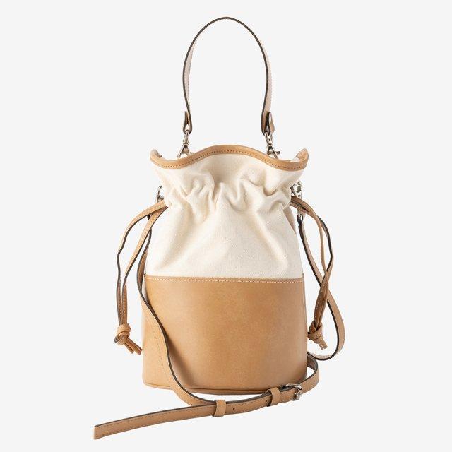 bi-color bag【beige】