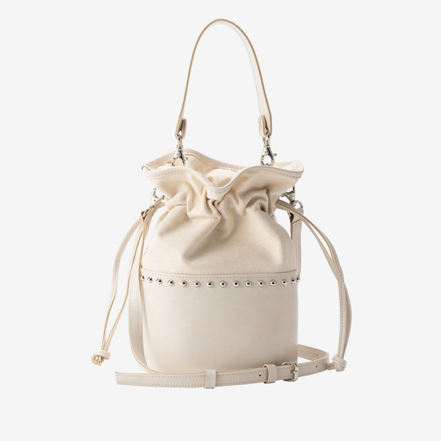 bi-color bag【white】