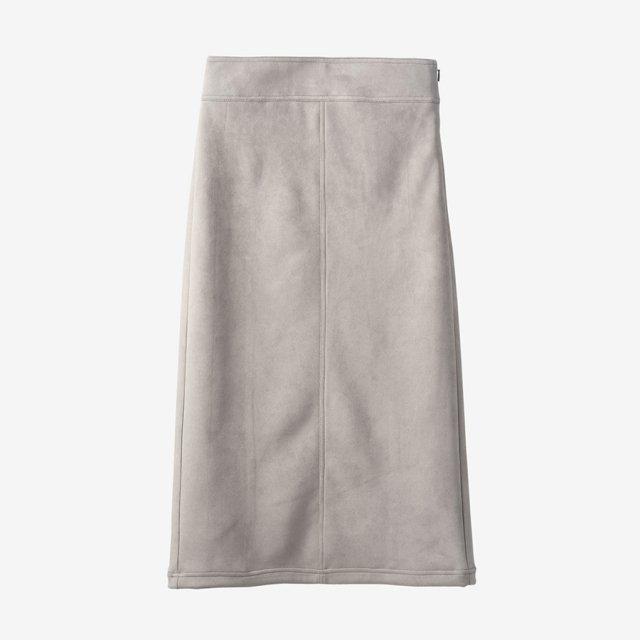 スウェードスカート【gray】