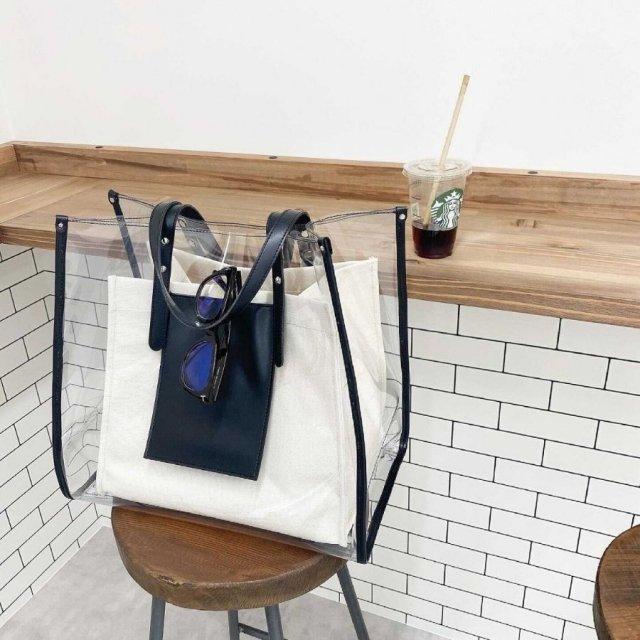 clear tote bag【L】