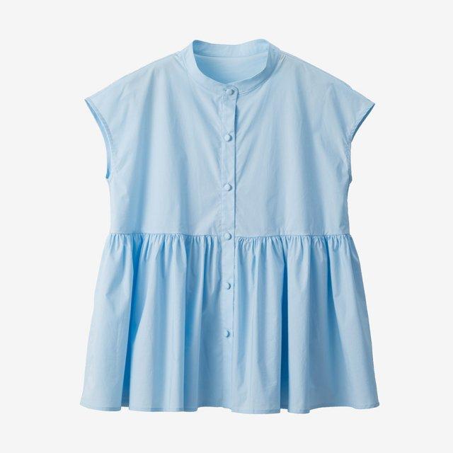 フレンチスリーブブラウス 【blue】
