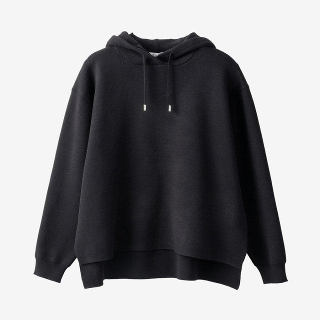 ニットパーカー【black】
