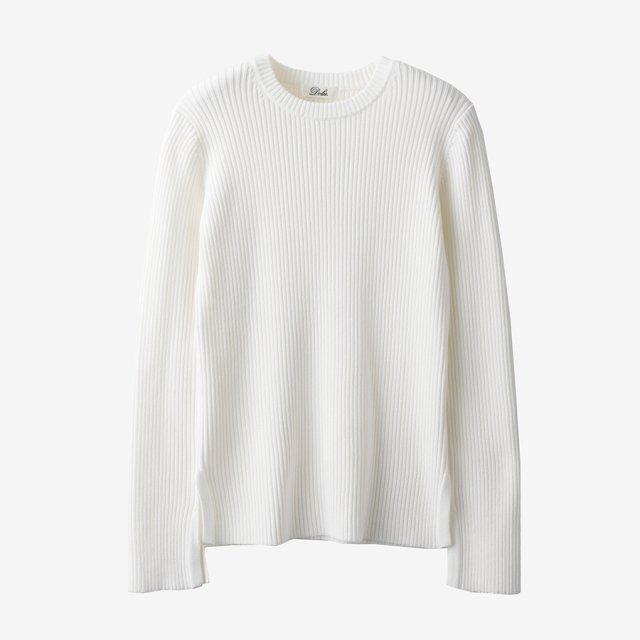 スリットニット【white】