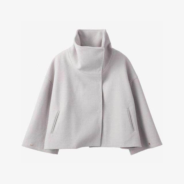 スタンドカラーコート【gray】
