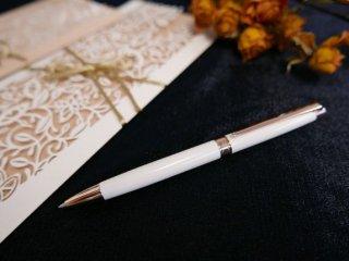 レマンスリムホワイト ローズゴールド ボールペン