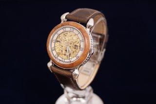 オリジナル機械式腕時計スケルトン文字盤