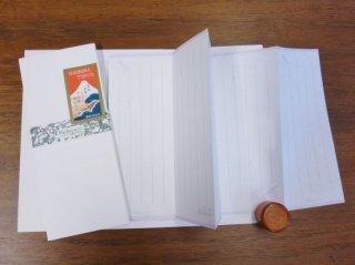 はいばら×趣味の文具箱 コラボ蛇腹便箋「ペンとインク柄レターセット」