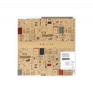 文具柄・便箋と封筒のレターセット