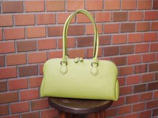 カンダミサコ 鞄 taupe/ライムグリーン