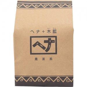 ヘナ+木藍(黒茶系)【徳用】 400g [ナイアード]