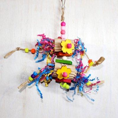 紙カミのり巻きトイ(Sサイズ)_鳥/インコ用おもちゃ