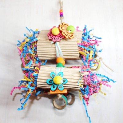 紙カミのり巻きトイ(Lサイズ)_インコのおもちゃ