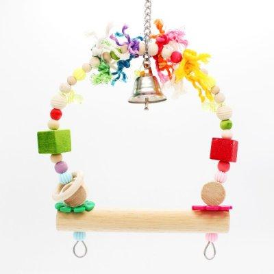 ブラブラ♪ゆりかごブランコ (ロープ型)_ 鳥・インコのおもちゃ