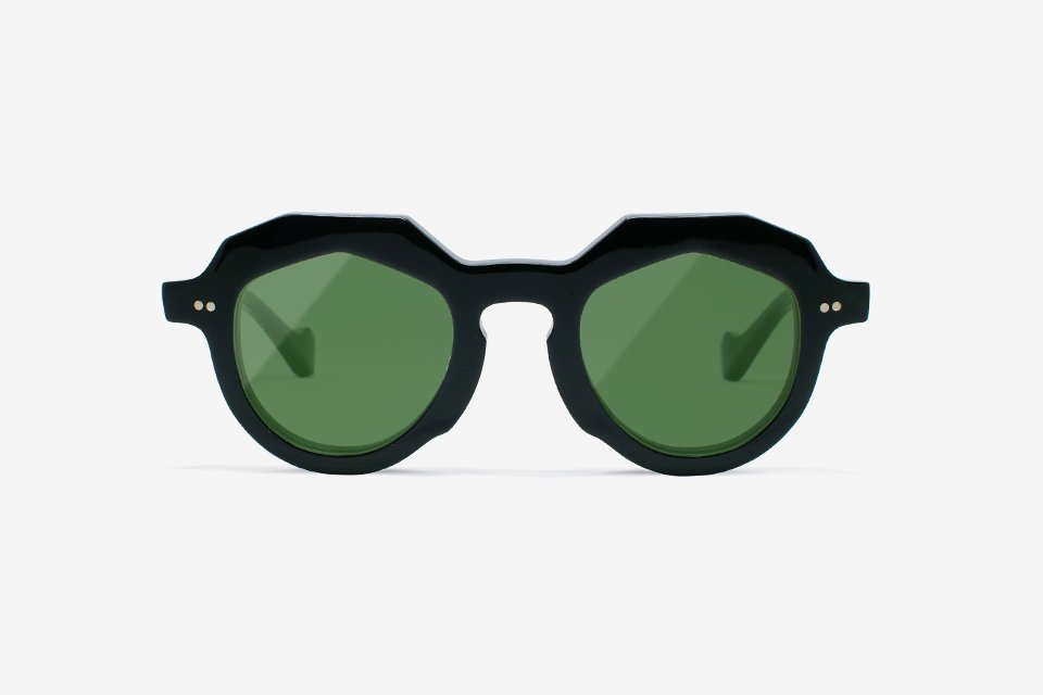 Handcrafted Celluloid Frame - BLACK