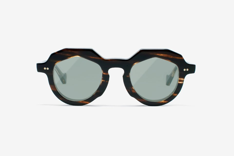 Handcrafted Celluloid Frame - BROWN FADE