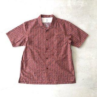 KATO' レトロ花柄オープンカラー半袖シャツ