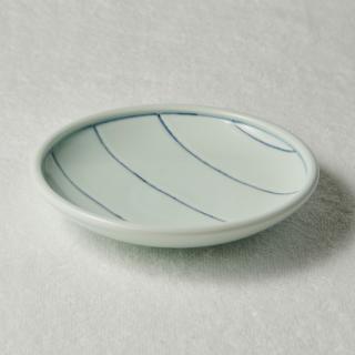 6寸玉縁皿/ボーダー<br>180mm tamabuchi plate