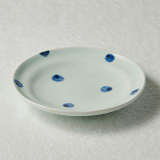 5寸丸皿/水玉<br>150mm round plate