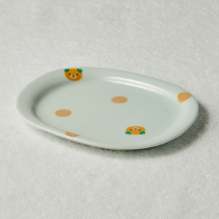 楕円皿/みきゃん<br>oval plate