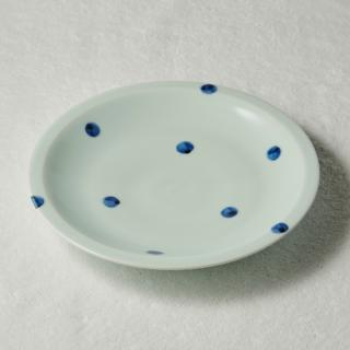 8寸リム皿/水玉<br>240mm rim plate