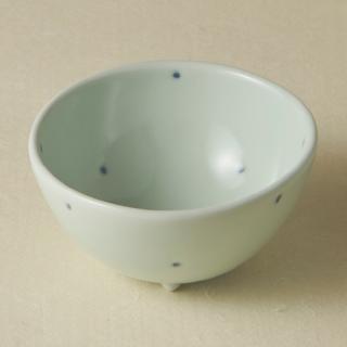 足付コロコロ鉢(小)/ドット<br>bowl with legs